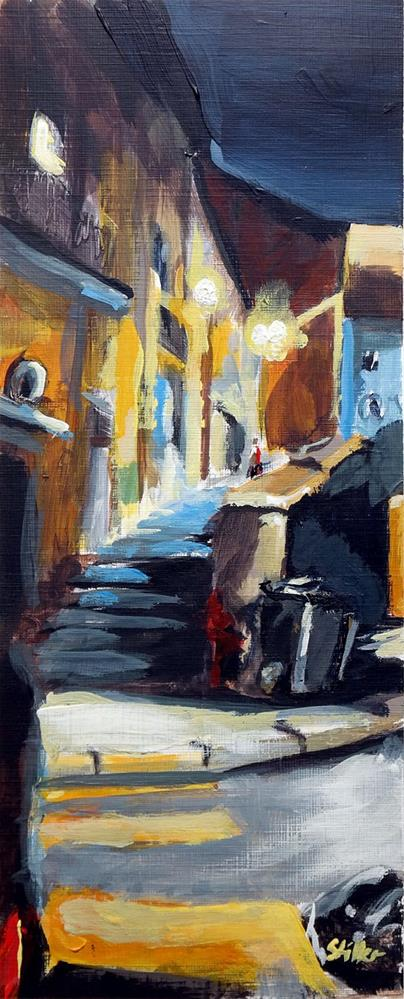 """1928 Hydrant Monk"" original fine art by Dietmar Stiller"