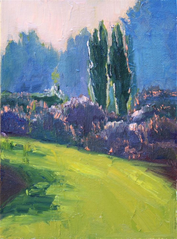 """Gloaming in the Garden"" original fine art by Patricia Matranga"
