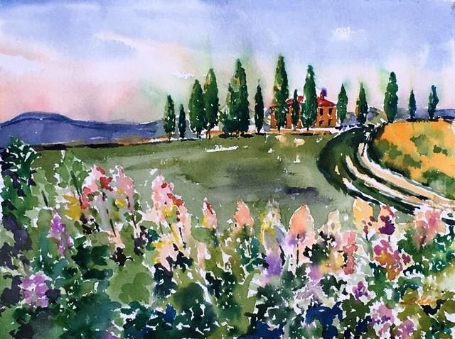 """Under the Tuscan Sun, No.2"" original fine art by Lisa Fu"