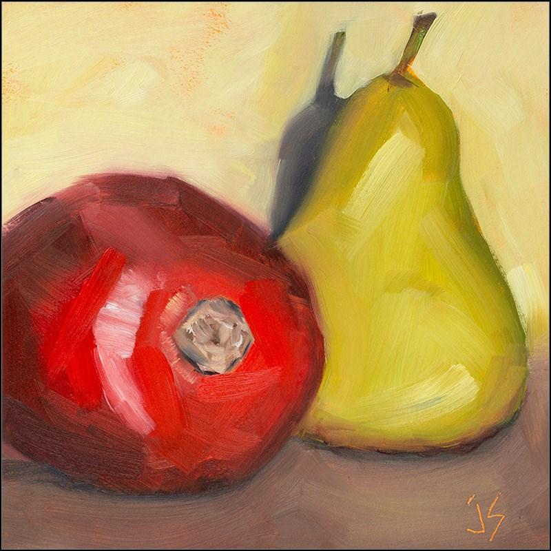 """30in30 - P 4 Pomegranate"" original fine art by Johnna Schelling"