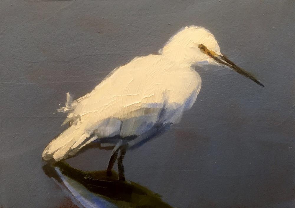 """""""Wading"""" original fine art by Gary Bruton"""