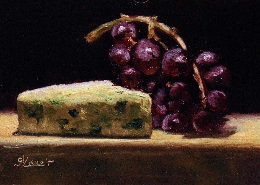 """""""Blue Cheese with Grapes"""" original fine art by Garry Kravit"""