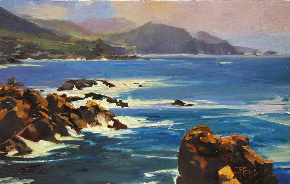 """Rocky Point Vista California, coastal, plein air painting by Robin Weiss"" original fine art by Robin Weiss"