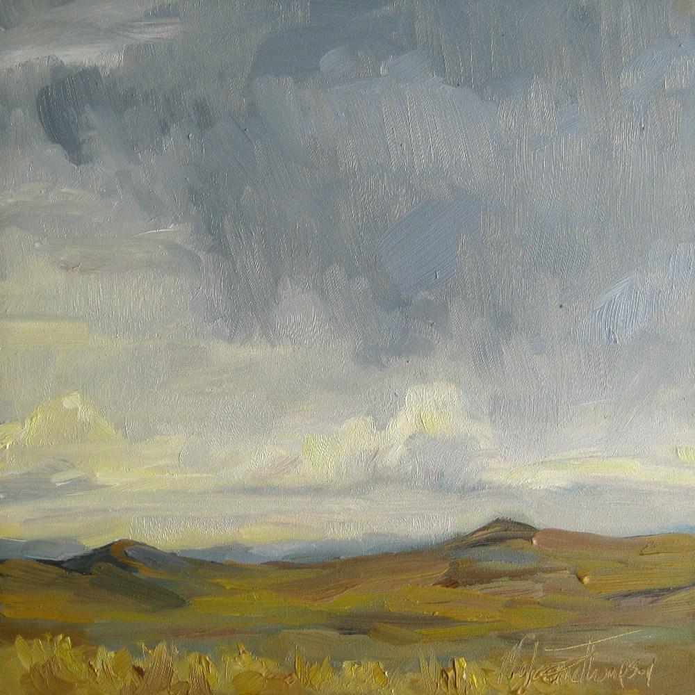 """Crumbling Clouds"" original fine art by Melanie Thompson"