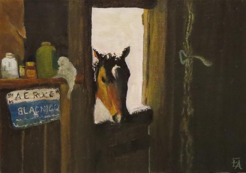 """Hey, It's Cold Out Here!"" original fine art by Elizabeth Elgin"