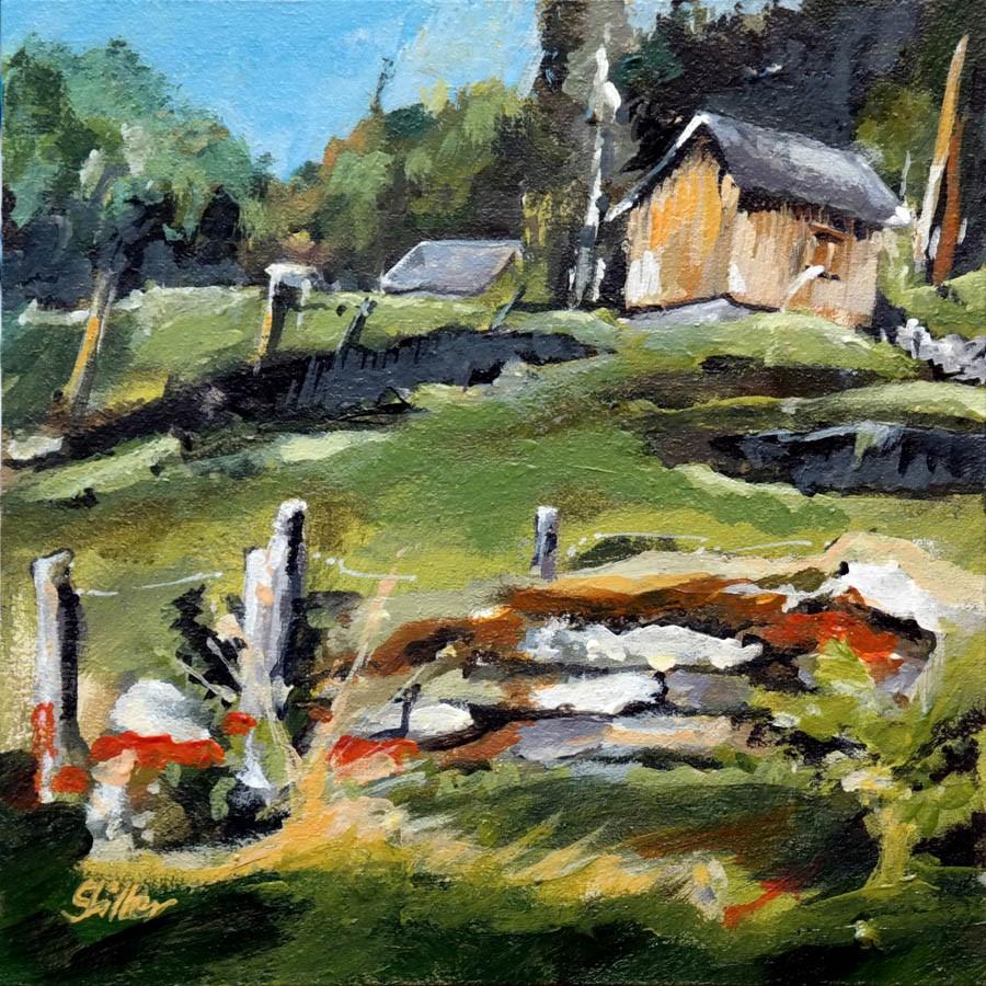 """""""1673 Farm House"""" original fine art by Dietmar Stiller"""