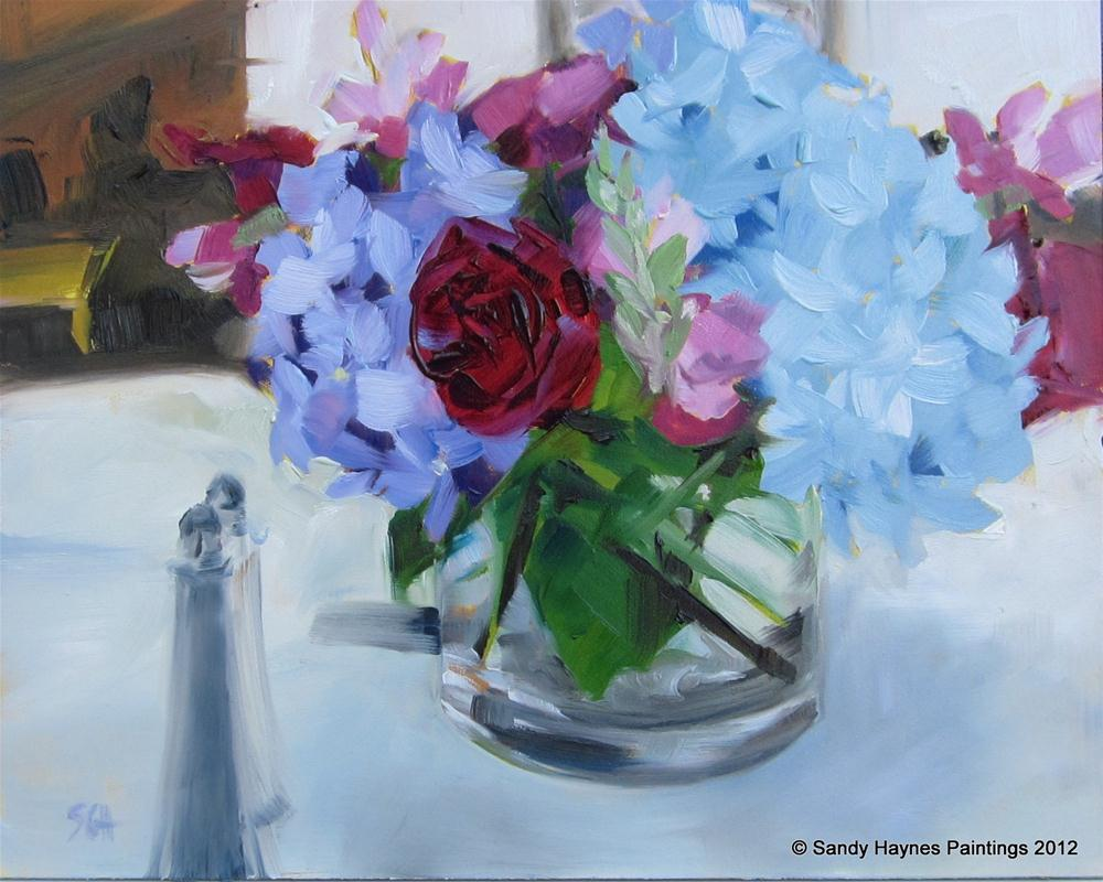 """Wedding centerpiece"" original fine art by Sandy Haynes"