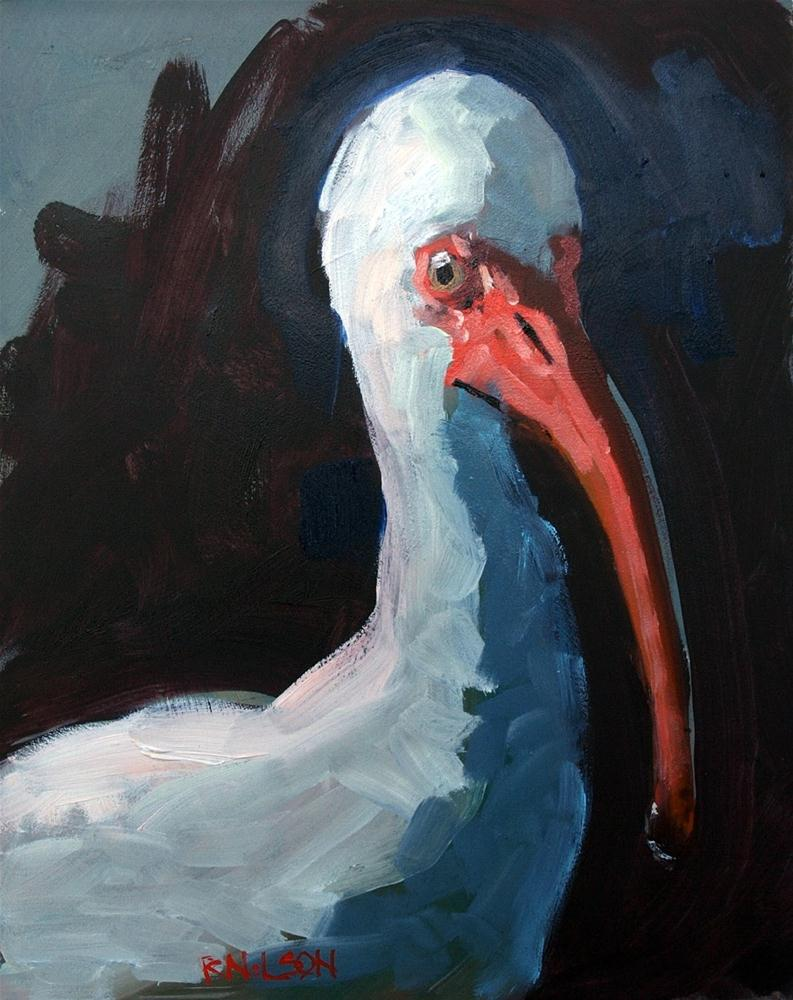 """Ibis in the Morning"" original fine art by Rick Nilson"