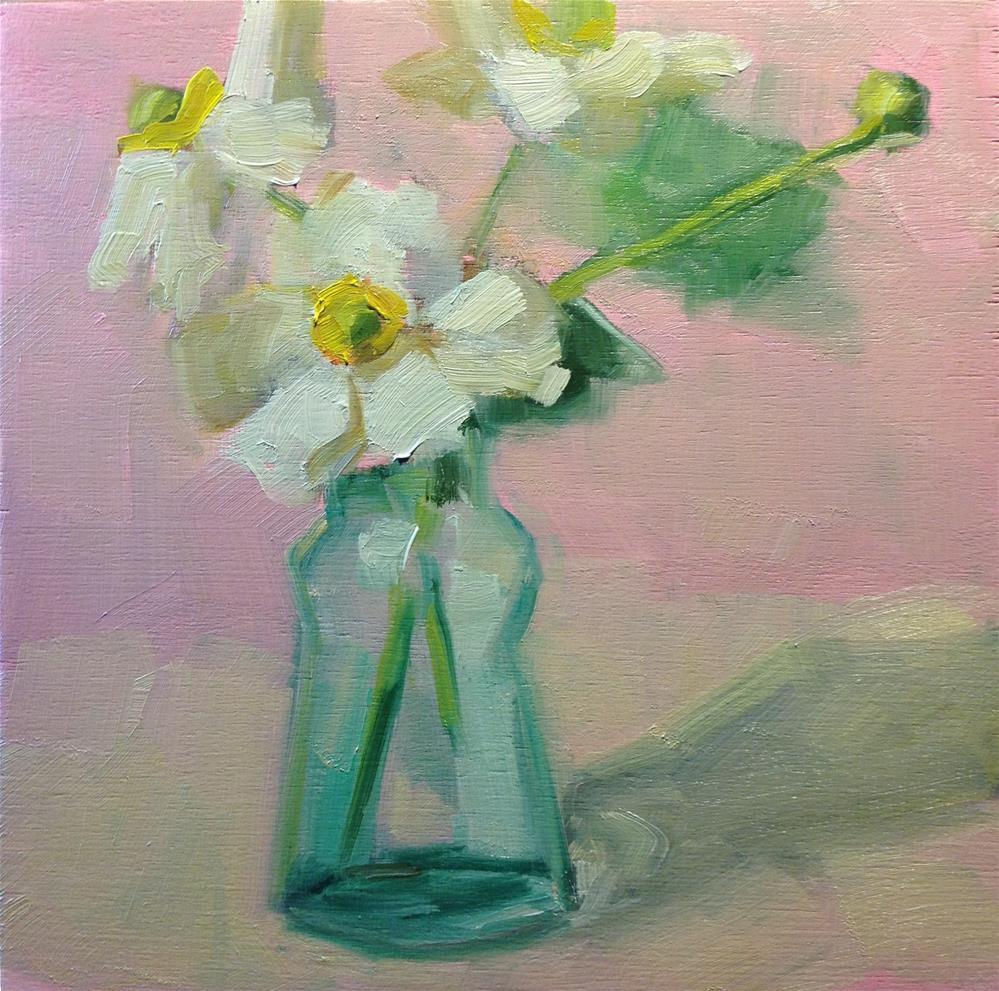 """""""Last flowers in my garden"""" original fine art by Carol Josefiak"""