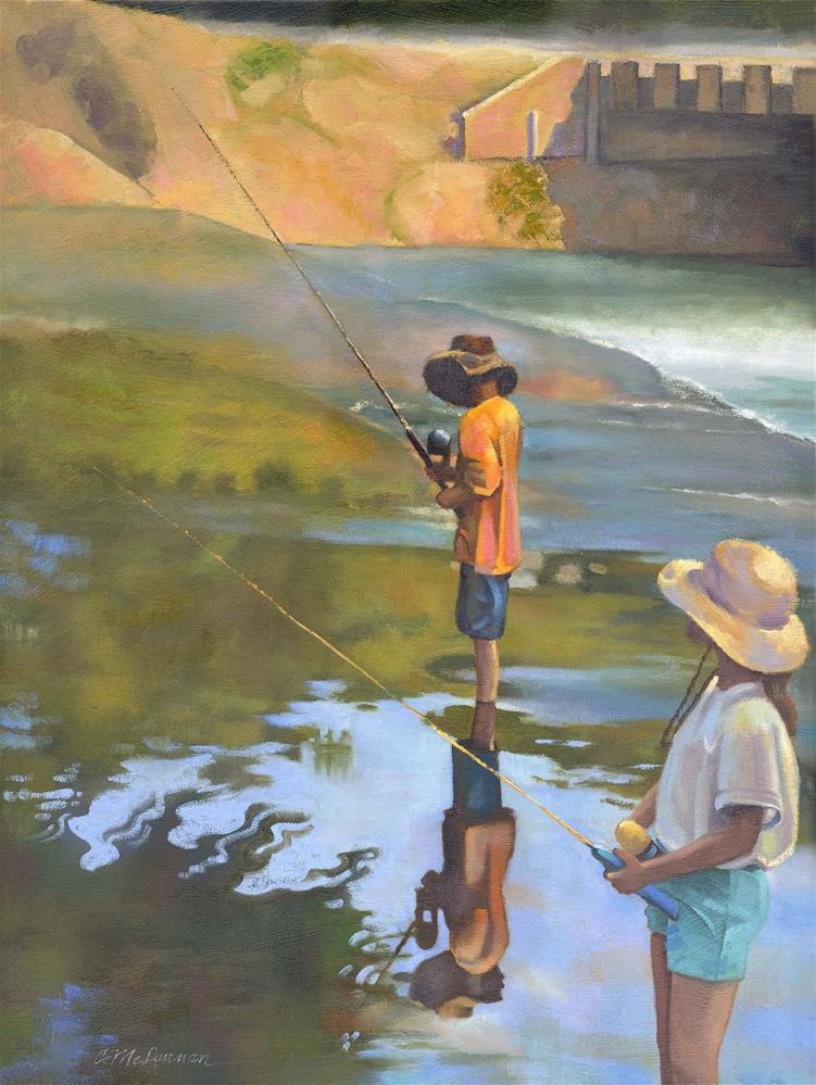 """Fishin'"" original fine art by Connie McLennan"