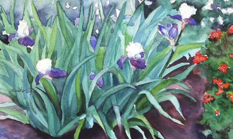 """Quiet Moment with Iris"" original fine art by Mariko Irie"
