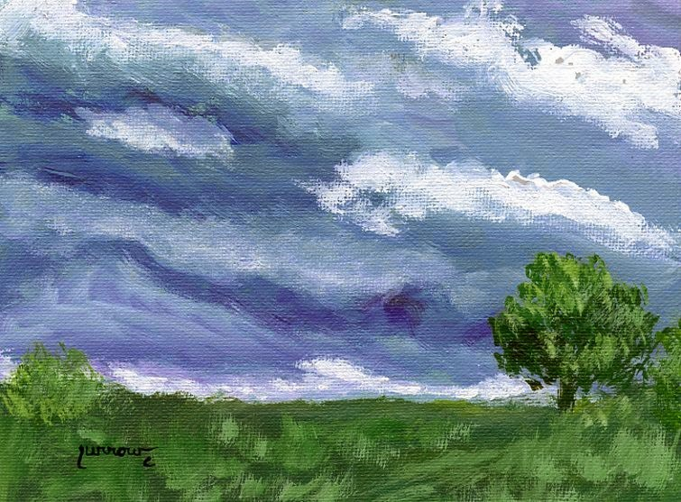 """""""Just a Reminder about 1 PM and 1:30 PM"""" original fine art by Sue Furrow"""