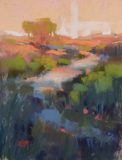 """Does Pastel Paper Matter?"" original fine art by Karen Margulis"