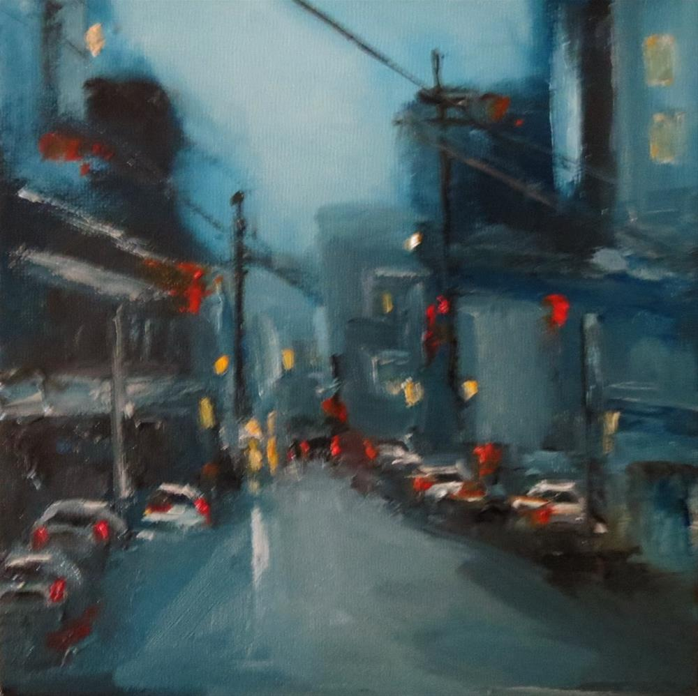 """Cityscape"" original fine art by Astrid Buchhammer"