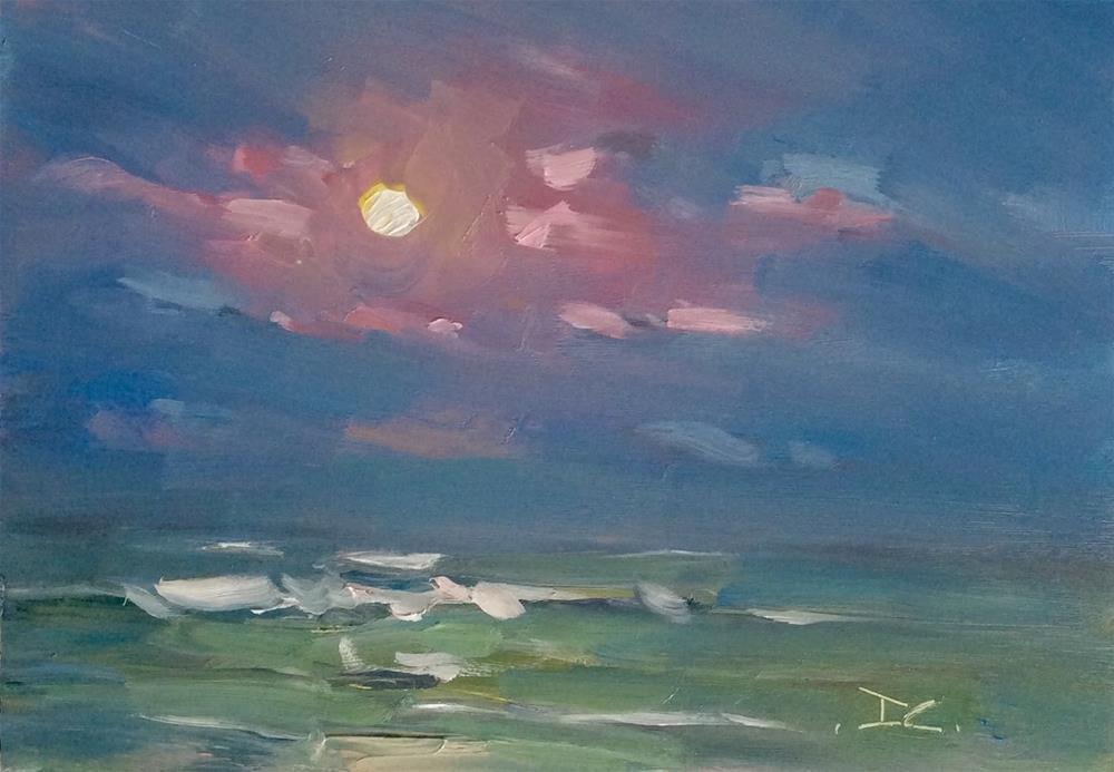 """""""MOON BEACH"""" original fine art by Doug Carter"""