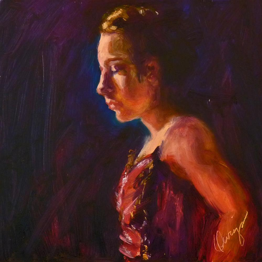 """Lights, Curtain "" original fine art by Sharman Owings"