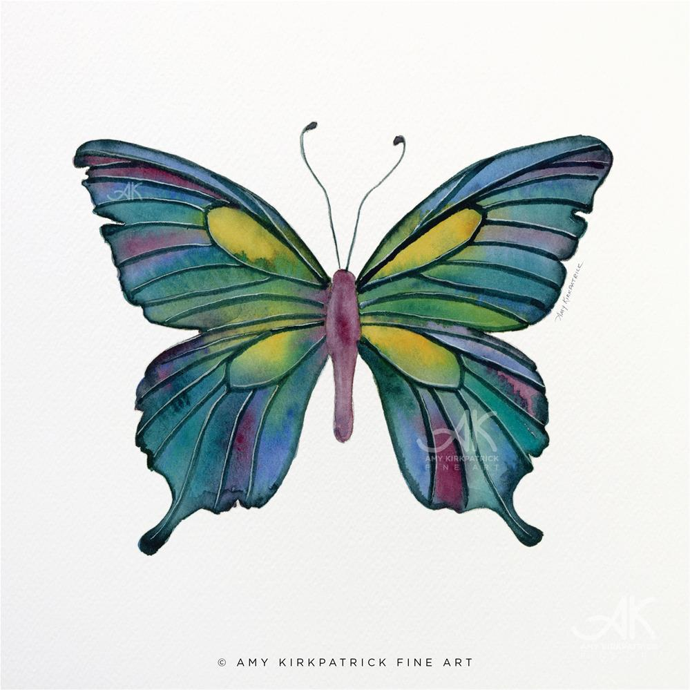 """#71 Cathedral Butterfly #0381"" original fine art by Amy Kirkpatrick"