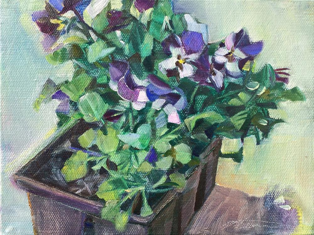 """""""Ready to garden"""" original fine art by Nicoletta Baumeister"""