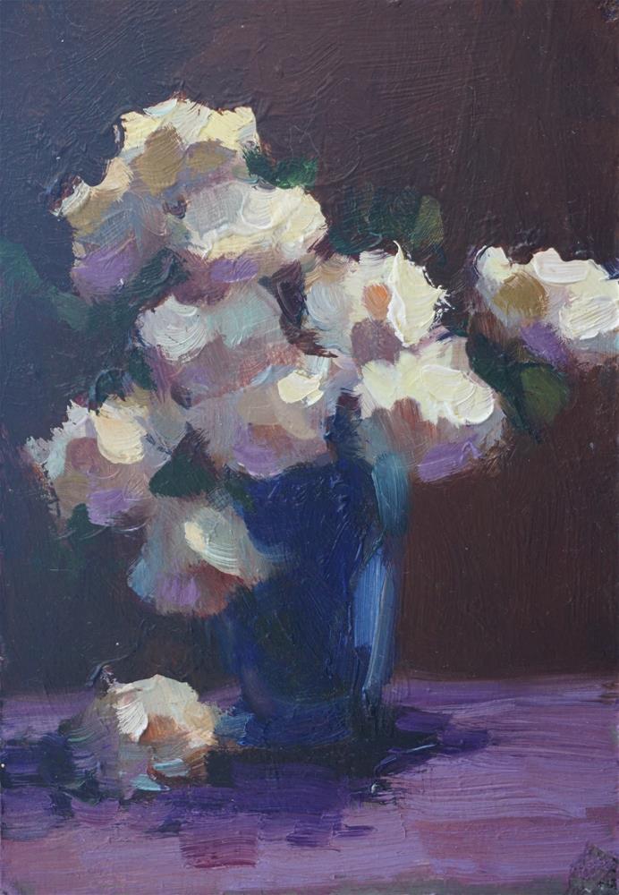 """Blooming Whites"" original fine art by Carol Myer"