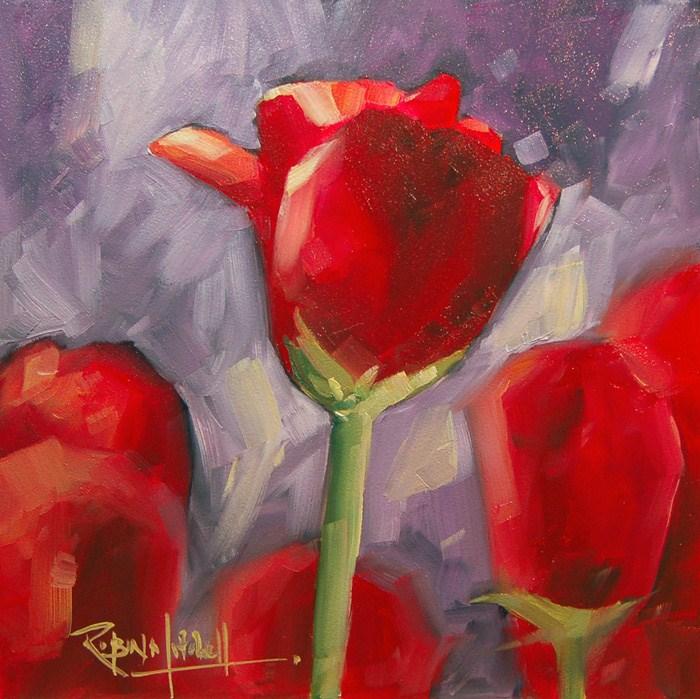 """""""No 571 Happy Valentines Day"""" original fine art by Robin J Mitchell"""
