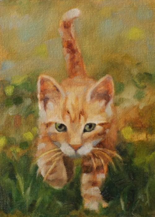 """""""The Hunter"""" original fine art by Pamela Poll"""