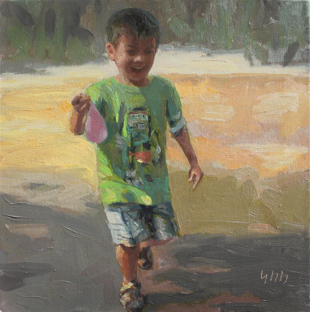 """""""Water Balloon"""" original fine art by Yuehua He"""