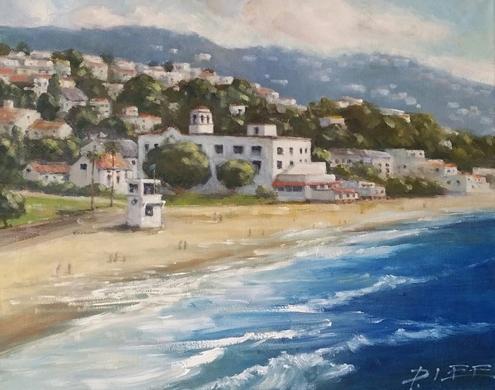 """Laguna Beach"" original fine art by Peter Lee"