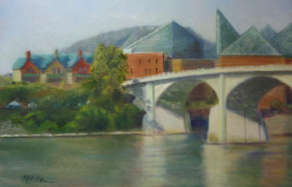 """""""Market Street Bridge"""" original fine art by Marilyn R. Place"""