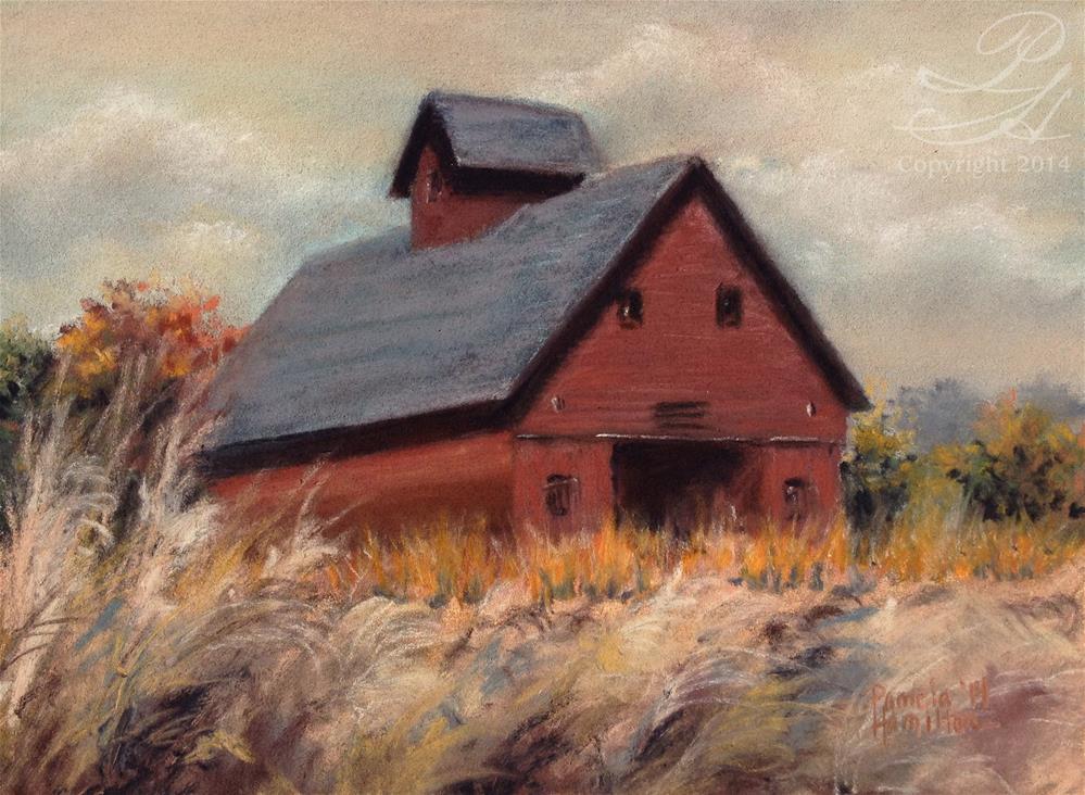 """Peck Barn"" original fine art by Pamela Hamilton"