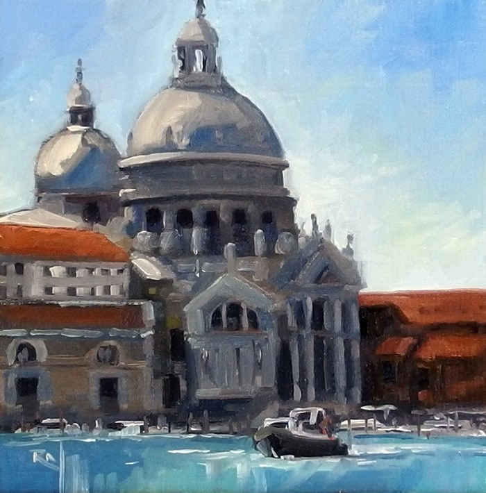 """No 723 The Domes - Venice"" original fine art by Robin J Mitchell"