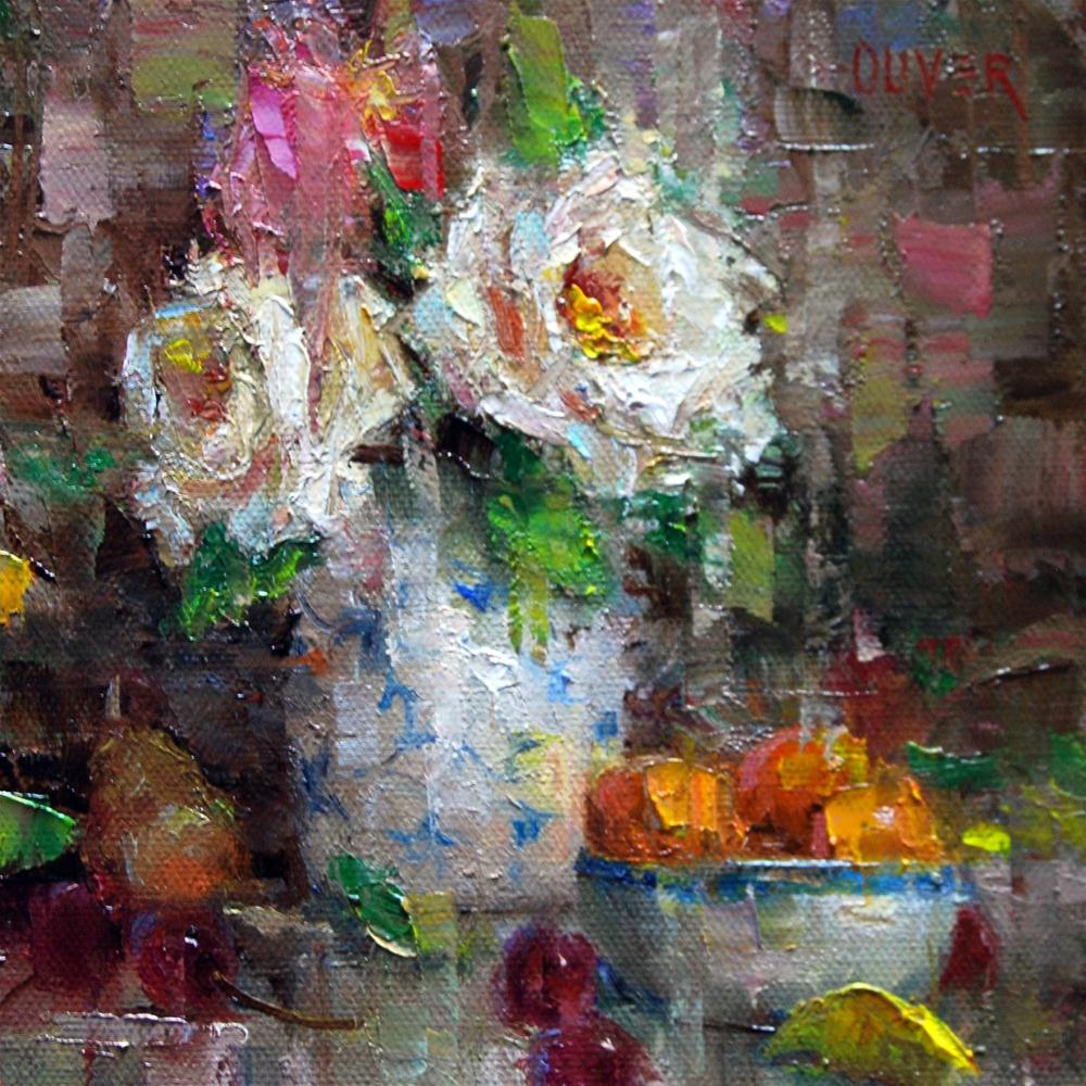 """Flowers and Fruit"" original fine art by Julie Ford Oliver"