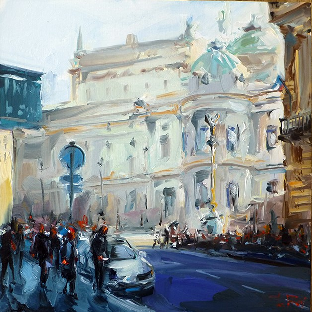 """pariser-opernhaus"" original fine art by Jurij Frey"