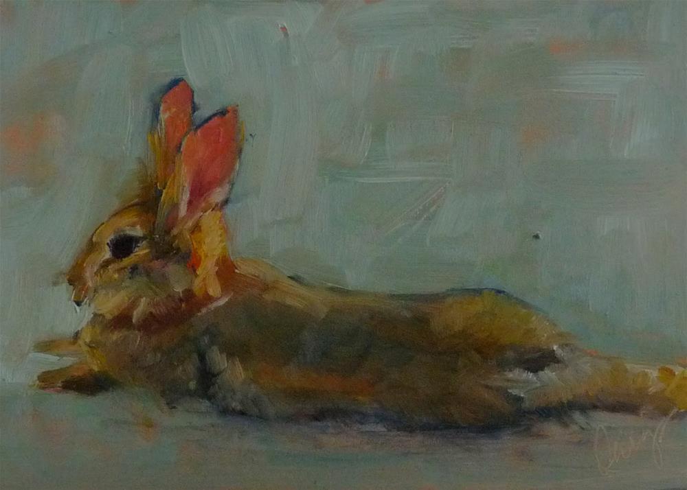 """Hare"" original fine art by Sharman Owings"