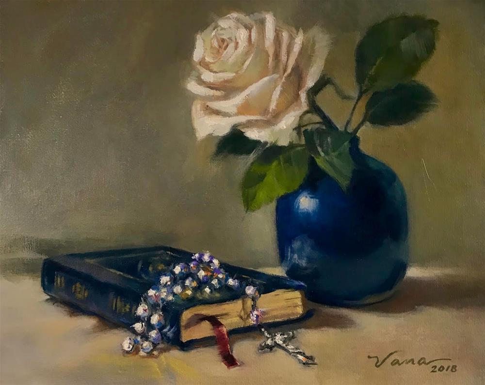 """A Rose and a Prayer"" original fine art by Vana Meyers"