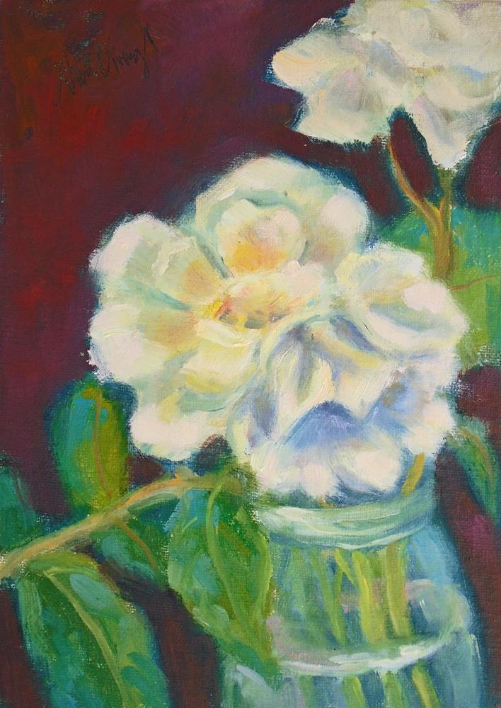 """White Roses Study"" original fine art by Rhett Regina Owings"