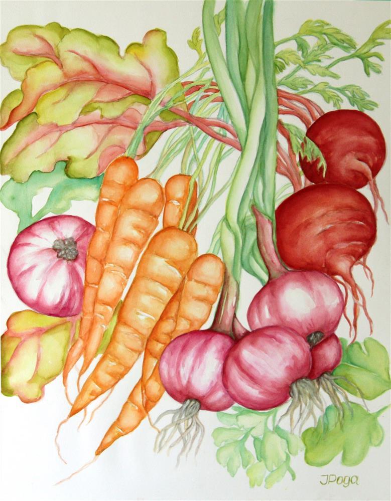 """Veggies, love them"" original fine art by Inese Poga"