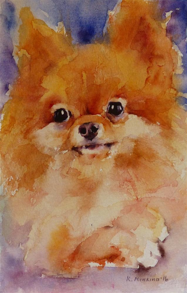 """adopt204 - Pookie"" original fine art by Katya Minkina"