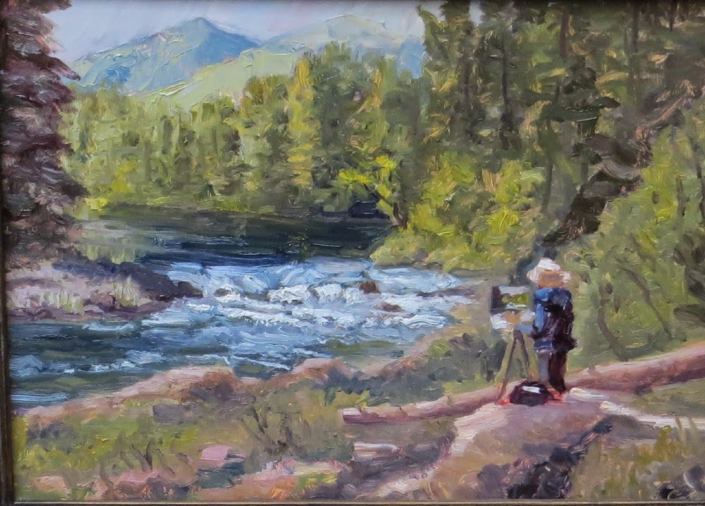 """Umpqua Plein Air"" original fine art by Richard Kiehn"