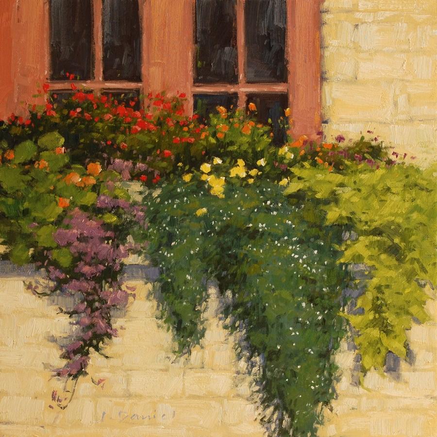 """Window Box"" original fine art by Laurel Daniel"