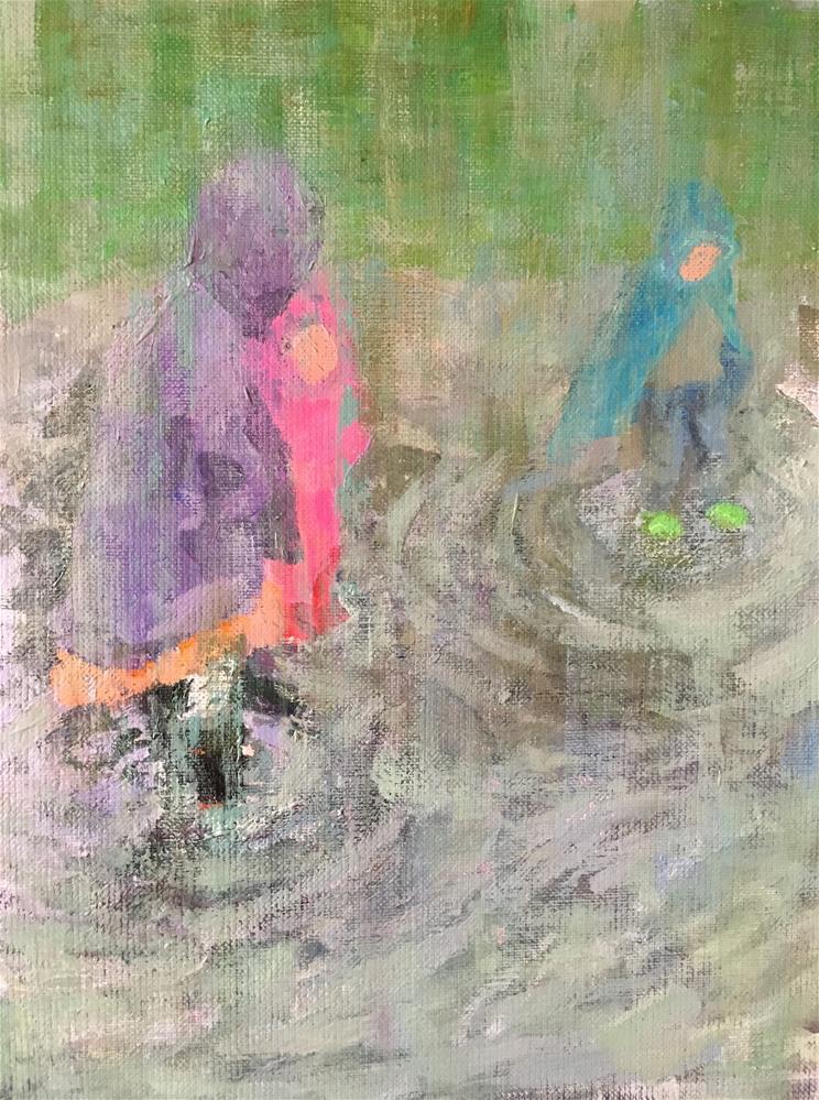 """Rainy day"" original fine art by Christine Parker"