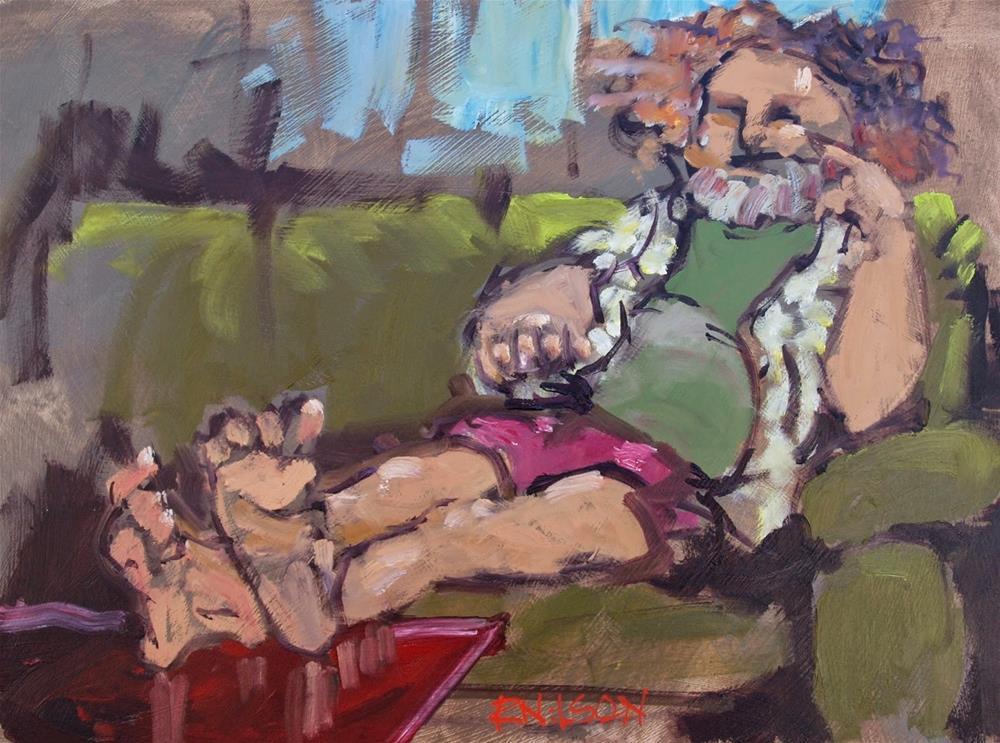 """The Prince of Cherry Hill"" original fine art by Rick Nilson"