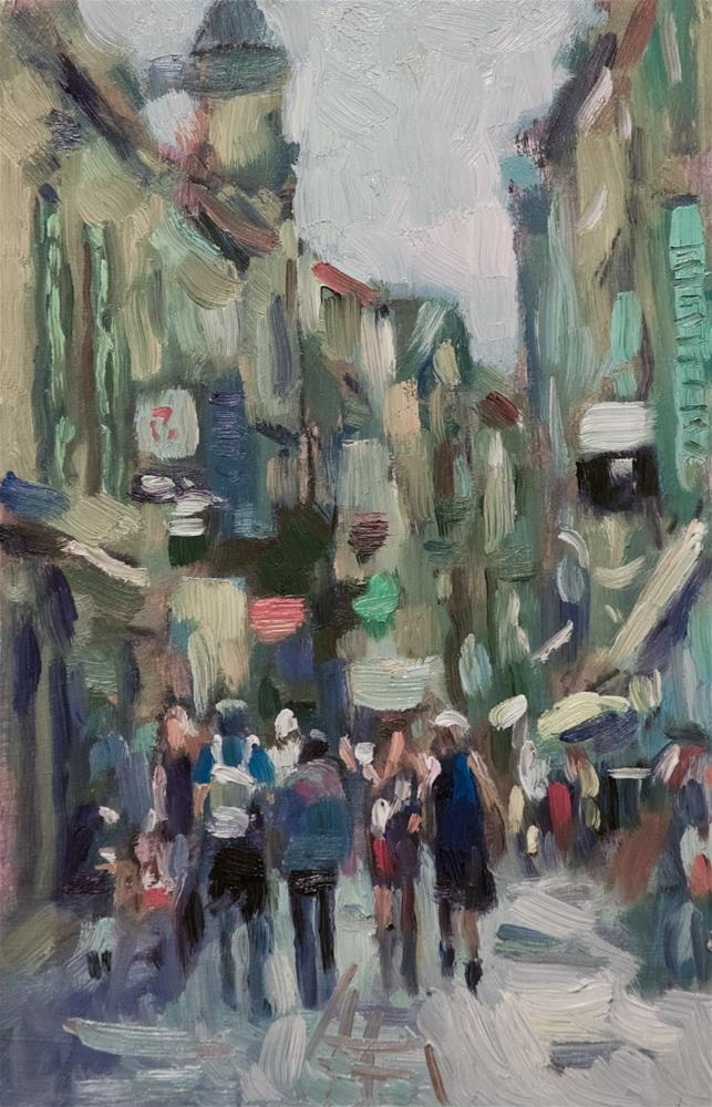 """Shopping Street in Arles"" original fine art by Andre Pallat"