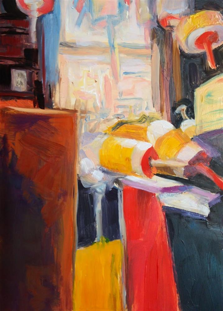 """""""Inside the Shop"""" original fine art by Lynne Schulte"""