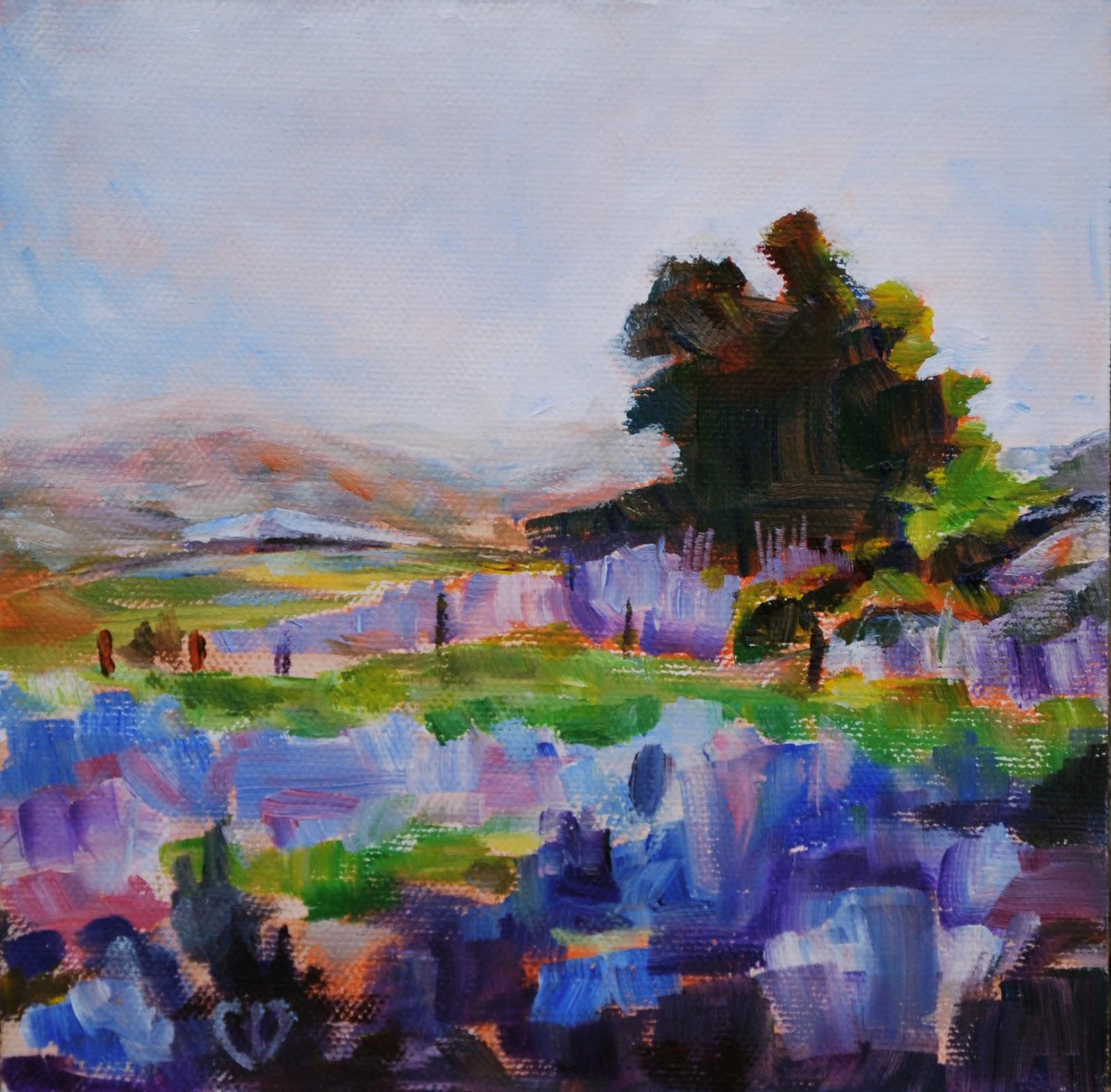 """""""Lavender Fields Forever"""" original fine art by Carol DeMumbrum"""