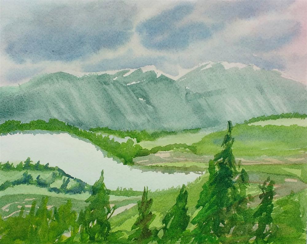 """Mt. Revelstoke Mist: Sky Painting IV"" original fine art by Maria Peagler"