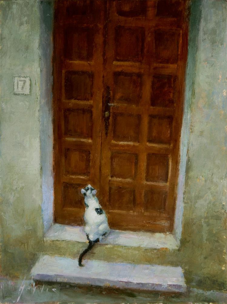 """""""Ouvrez La Porte"""" original fine art by Julie Snyder"""