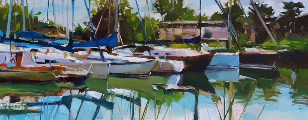 """Sailing ships #2"" original fine art by Víctor Tristante"