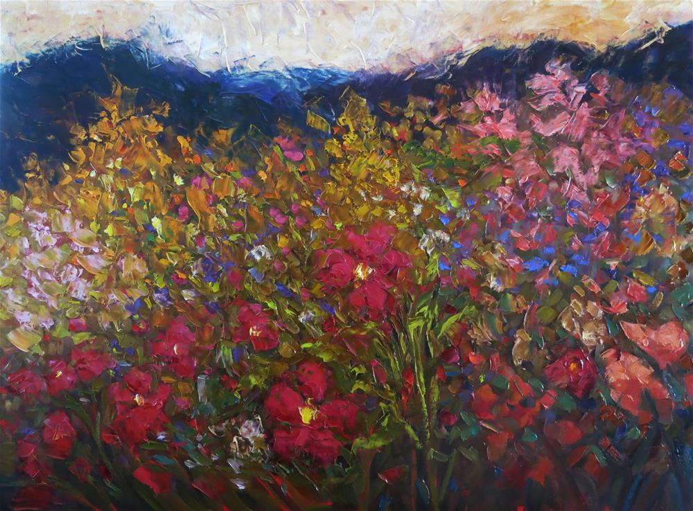 """MOUNTAIN GARDEN"" original fine art by Dee Sanchez"