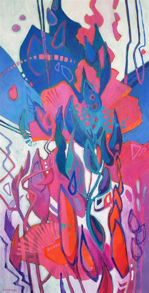 """Glad"" original fine art by Nancy Roberts"