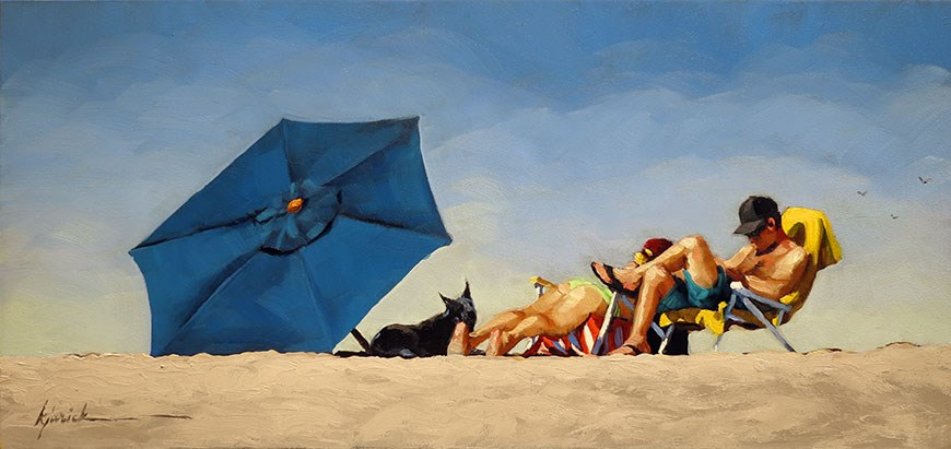 """Summer Camp"" original fine art by Karin Jurick"